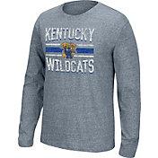 Top of the World Men's Kentucky Wildcats Grey Tri-blend Long Sleeve Tee