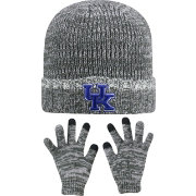 Top of the World Youth Kentucky Wildcats Grey Lil Cyber Beanie and Gloves Set