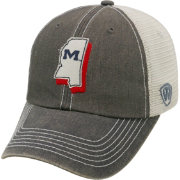 Top of the World Men's Ole Miss Rebels Grey United Adjustable Snapback Hat