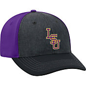 Top of the World Men's LSU Tigers Grey/Purple Reach 1Fit Flex Hat