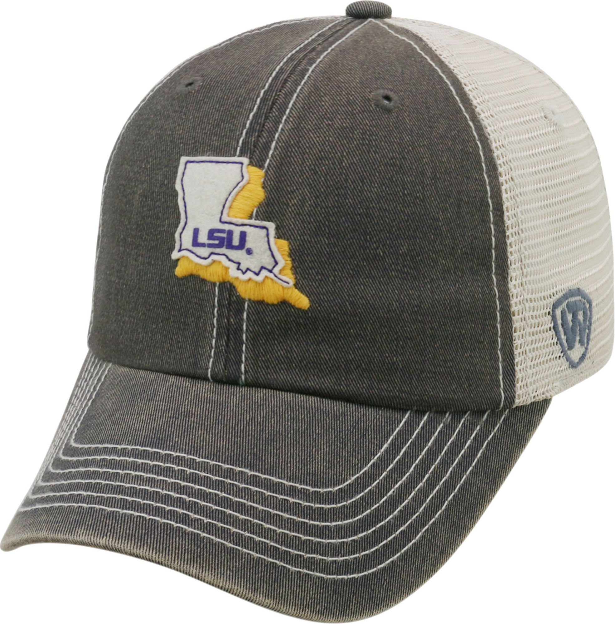 91d46e0bba3a7 ... trucker adjustable hat purple 3a729 aa306  buy top of the world mens lsu  tigers grey united adjustable snapback 2eef0 babc9
