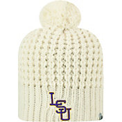 Top of the World Women's LSU Tigers Slouch White Knit Beanie