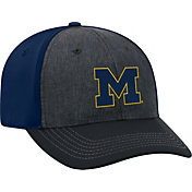 Top of the World Men's Michigan Wolverines Grey/Blue Reach 1Fit Flex Hat