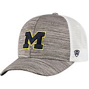 Top of the World Men's Michigan Wolverines Grey Warmup Adjustable Hat