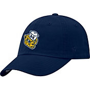 Top of the World Men's Michigan Wolverines Blue Staple Vintage Patch Adjustable Hat
