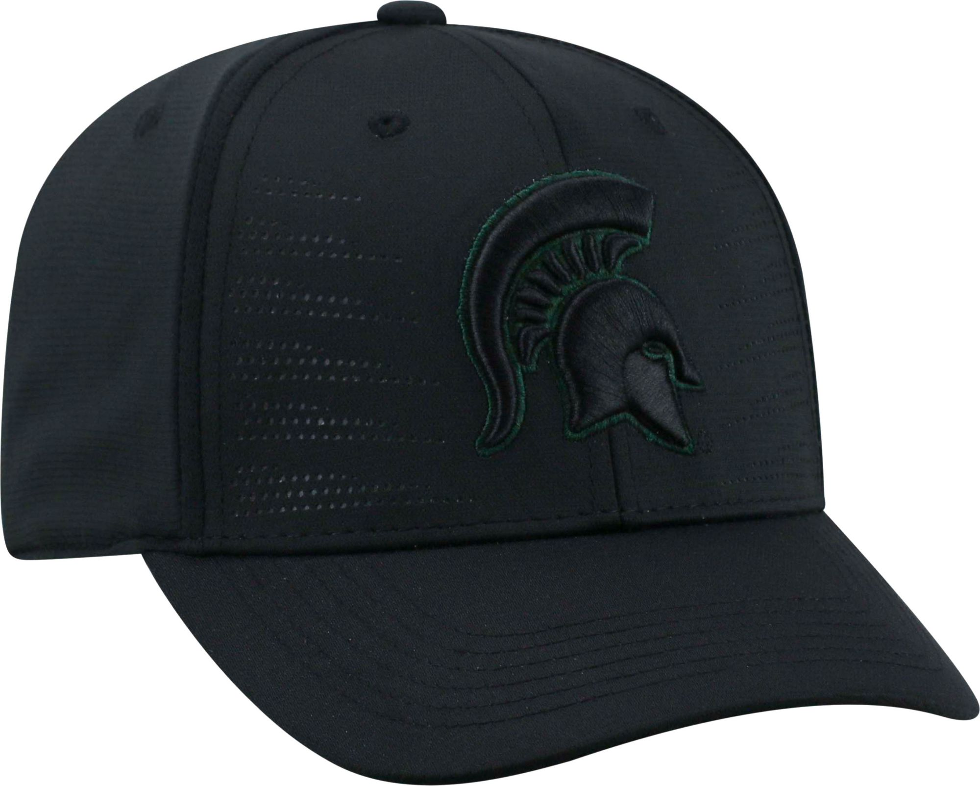 best website 1d361 f3673 ... new zealand top of the world mens michigan state spartans dazed 1fit  flex black hat 23346