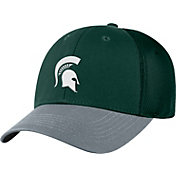 Top of the World Men's Michigan State Spartans Green Twill Elite Mesh 1Fit Flex Hat