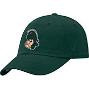 Top of the World Men's Michigan State Spartans Green Staple Vintage Patch Adjustable Hat