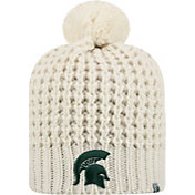 Top of the World Women's Michigan State Spartans Slouch White Knit Beanie