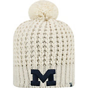 Top of the World Women's Michigan Wolverines Slouch White Knit Beanie