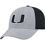 Top of the World Men's Miami Hurricanes Grey/Black Faboo 1Fit Hat