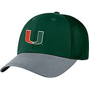 Top of the World Men's Miami Hurricanes Green Twill Elite Mesh 1Fit Flex Hat