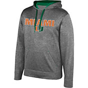 Top of the World Men's Miami Hurricanes Grey Foundation Hoodie