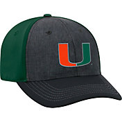 Top of the World Men's Miami Hurricanes Grey/Green Reach 1Fit Flex Hat