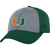 Top of the World Men's Miami Hurricanes Grey/Green Two Tone Adjustable Hat