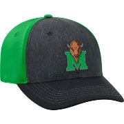 Top of the World Men's Marshall Thundering Herd Grey/Green Reach 1Fit Flex Hat