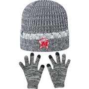 Top of the World Youth Maryland Terrapins Grey Lil Cyber Beanie and Gloves Set