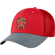 Top of the World Men's Maryland Terrapins Red Twill Elite Mesh 1Fit Flex Hat