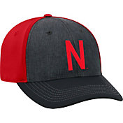 Top of the World Men's Nebraska Cornhuskers Grey/Scarlet Reach 1Fit Flex Hat