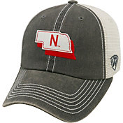 Top of the World Men's Nebraska Cornhuskers Grey United Adjustable Snapback Hat
