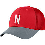 Top of the World Men's Nebraska Cornhuskers Scarlet Twill Elite Mesh 1Fit Flex Hat
