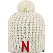 Top of the World Women's Nebraska Cornhuskers Slouch White Knit Beanie