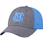 Top of the World Men's North Carolina Tar Heels Grey/Carolina Blue Faboo 1Fit Hat