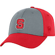 Top of the World Men's NC State Wolfpack Grey/Red Two Tone Adjustable Hat