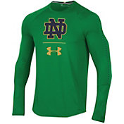 Under Armour Men's Notre Dame Fighting Irish Green Training Long Sleeve Performance T-Shirt