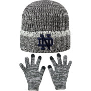 Top of the World Youth Notre Dame Fighting Irish Grey Lil Cyber Beanie and Gloves Set