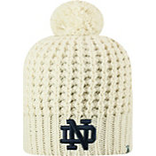 Top of the World Women's Notre Dame Fighting Irish Slouch White Knit Beanie