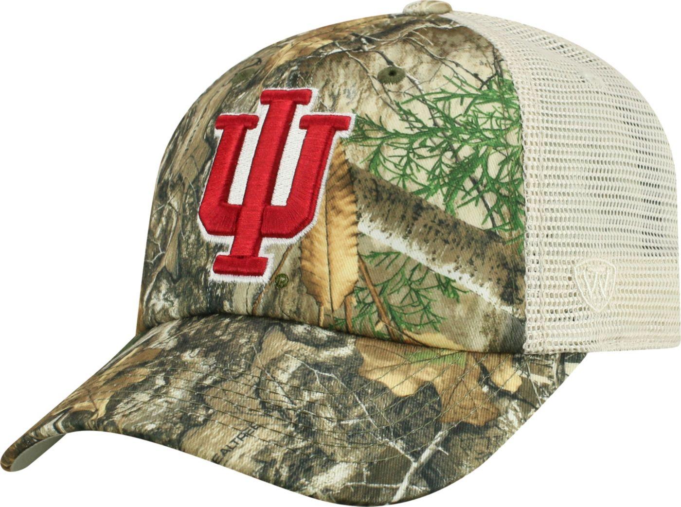 Top of the World Men's Indiana Hoosiers Camo Sentry Adjustable Hat