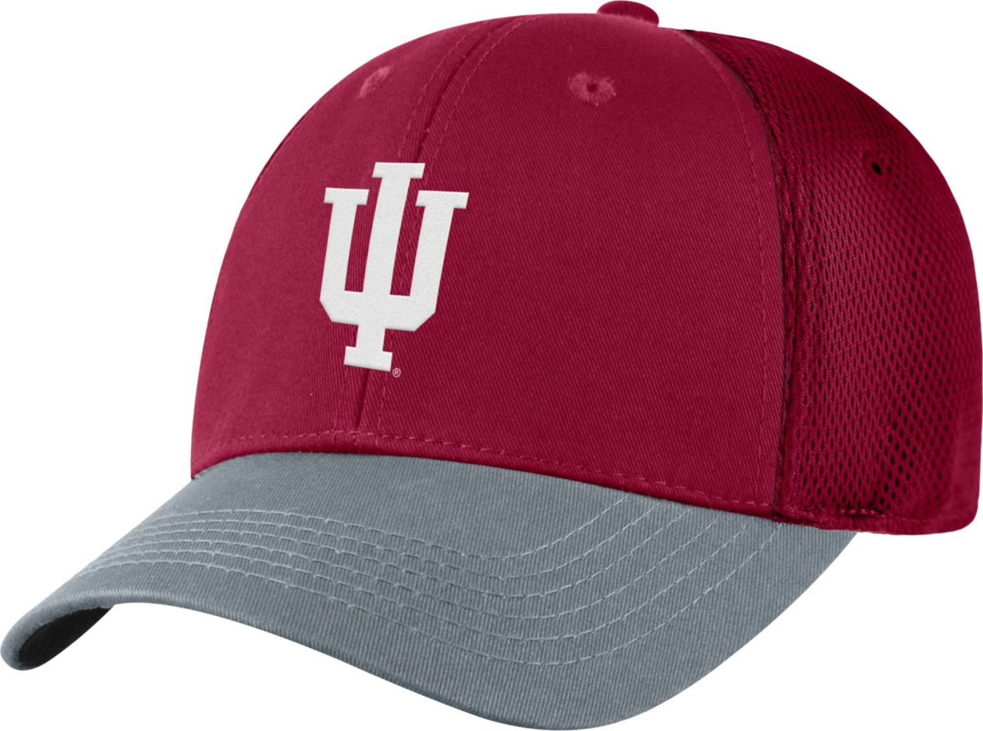 Top of the World Men's Indiana Hoosiers Crimson Twill Elite Mesh 1Fit Flex Hat