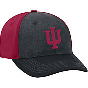 Top of the World Men's Indiana Hoosiers Grey/Crimson Reach 1Fit Flex Hat