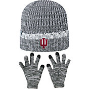 Top of the World Youth Indiana Hoosiers Grey Lil Cyber Beanie and Gloves Set