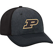 Top of the World Men's Purdue Boilermakers Grey/Black Reach 1Fit Flex Hat
