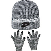 Top of the World Youth Purdue Boilermakers Grey Lil Cyber Beanie and Gloves Set