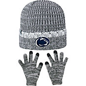Top of the World Youth Penn State Nittany Lions Grey Lil Cyber Beanie and Gloves Set