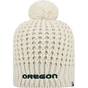 Top of the World Women's Oregon Ducks Slouch White Knit Beanie