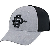 Top of the World Men's San Diego State Aztecs Grey/Black Faboo 1Fit Hat