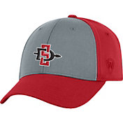 Top of the World Men's San Diego State Aztecs Grey/Scarlet Two Tone Adjustable Hat