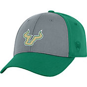 Top of the World Men's South Florida Bulls Grey/Green Two Tone Adjustable Hat