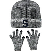 Top of the World Youth Syracuse Orange Grey Lil Cyber Beanie and Gloves Set