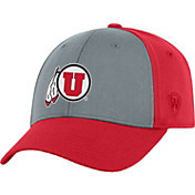 Top of the World Men's Utah Utes Grey/Crimson Two Tone Adjustable Hat