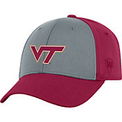 Top of the World Men's Virginia Tech Hokies Grey/Maroon Two Tone Adjustable Hat