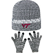 Top of the World Youth Virginia Tech Hokies Grey Lil Cyber Beanie and Gloves Set