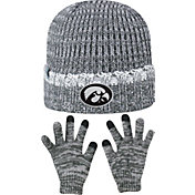 Top of the World Youth Iowa Hawkeyes Grey Lil Cyber Beanie and Gloves Set