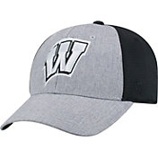 Top of the World Men's Wisconsin Badgers Grey/Black Faboo 1Fit Hat