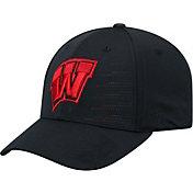 Top of the World Men's Wisconsin Badgers Dazed 1Fit Flex Black Hat