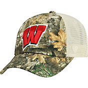 Top of the World Men's Wisconsin Badgers Camo Sentry Adjustable Hat